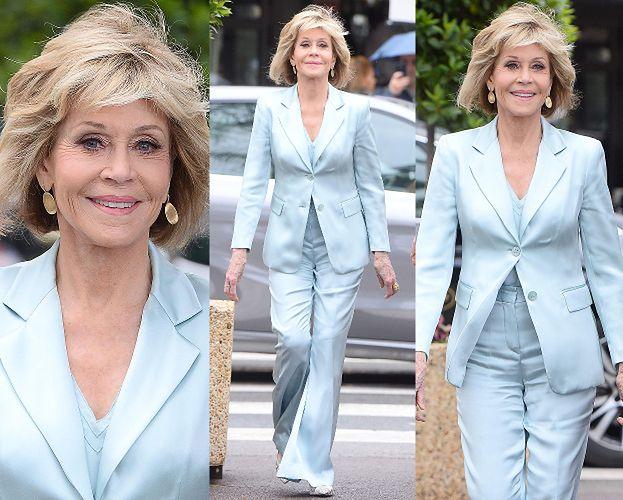 Dziarska, 80-letnia Jane Fonda na spacerze w Cannes