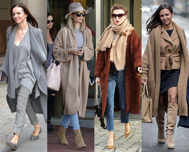 Sweter zamiast płaszcza? Nowa moda wśród gwiazd