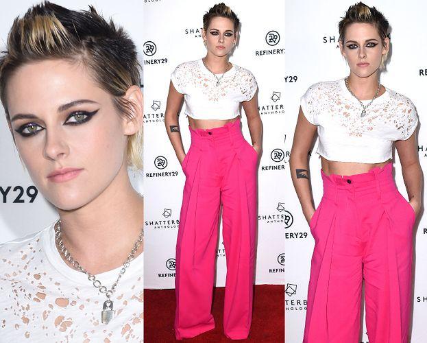 Kristen Stewart odsłania brzuch w koszulce z dziurami...