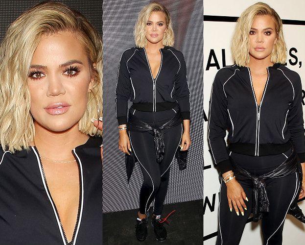 Opuchnięte wargi Khloe Kardashian zachęcają do zakupu dresu