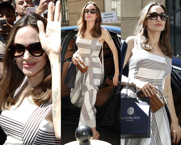 Dostojna Angelina Jolie wysiada z limuzyny w letniej sukience za 14 tysięcy złotych (ZDJĘCIA)