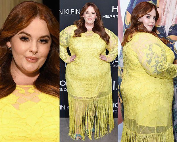 130 kilogramów Tess Holliday walczy o uwagę w żółtych frędzlach