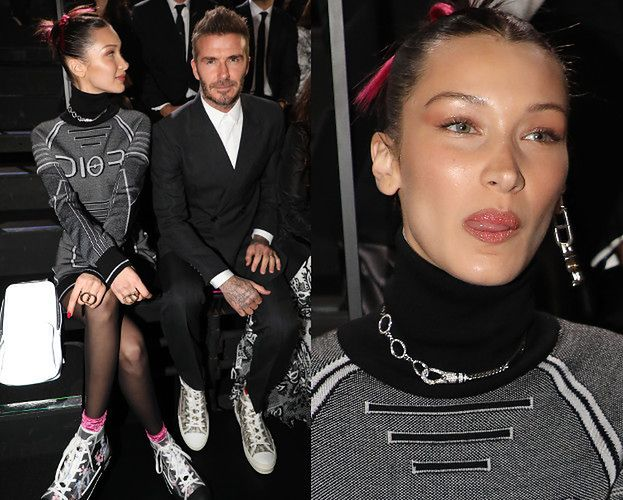 Rozmarzona Bella Hadid oblizuje się na widok Davida Beckhama