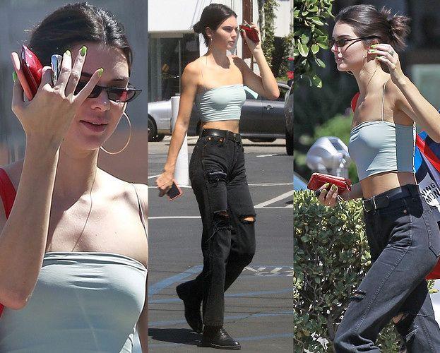 Obrażona Kendall Jenner zasłania się przed paparazzi
