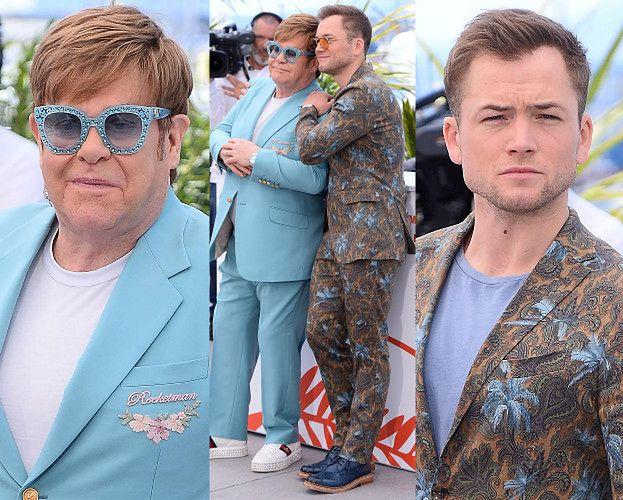 Cannes 2019: 72-letni Elton John pozuje ze swoim ekranowym odpowiednikiem