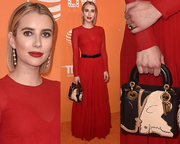 Emma Roberts chwali się dziwną torebką za 14 tysięcy