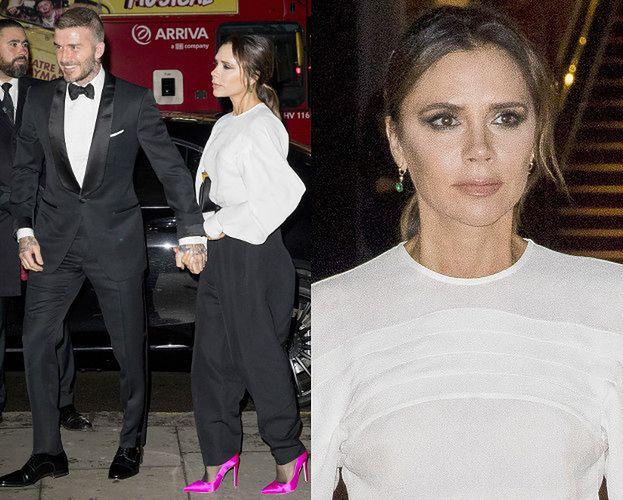 Zabiegani Beckhamowie pędzą na galę z Kate Middleton