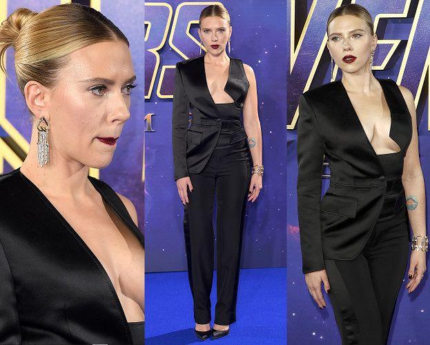 """Scarlett Johansson promuje """"Avengersów"""" odsłoniętą piersią"""