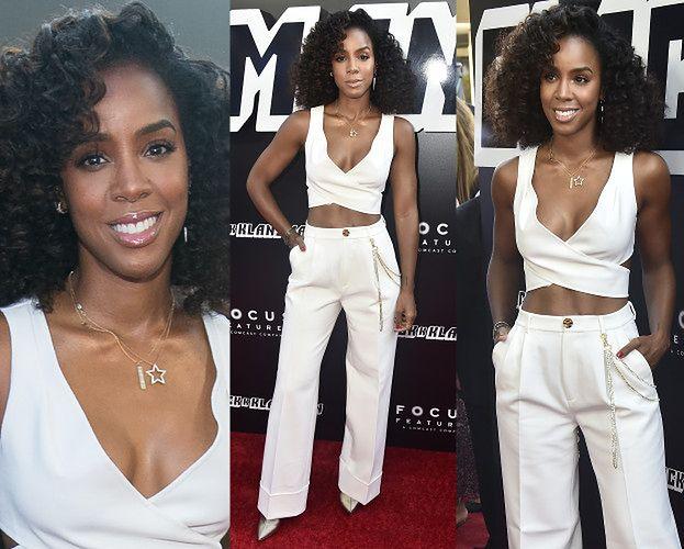 Kelly Rowland odsłania umięśniony brzuch w kusej bluzeczce