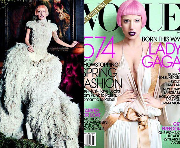 """Lady GaGa w piórach w """"Vogue'u""""! (ZDJĘCIA!)"""