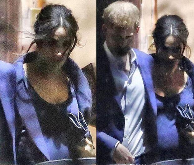 Wyciekły nowe zdjęcia ciężarnej Meghan! Jednak urodzi bliźnięta?