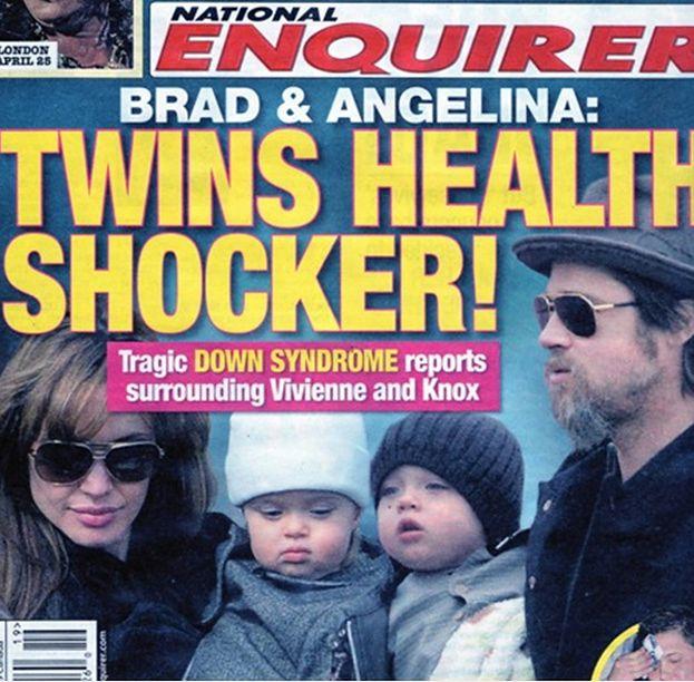 Bliźniaki Jolie i Brada mają... zespół Downa?!
