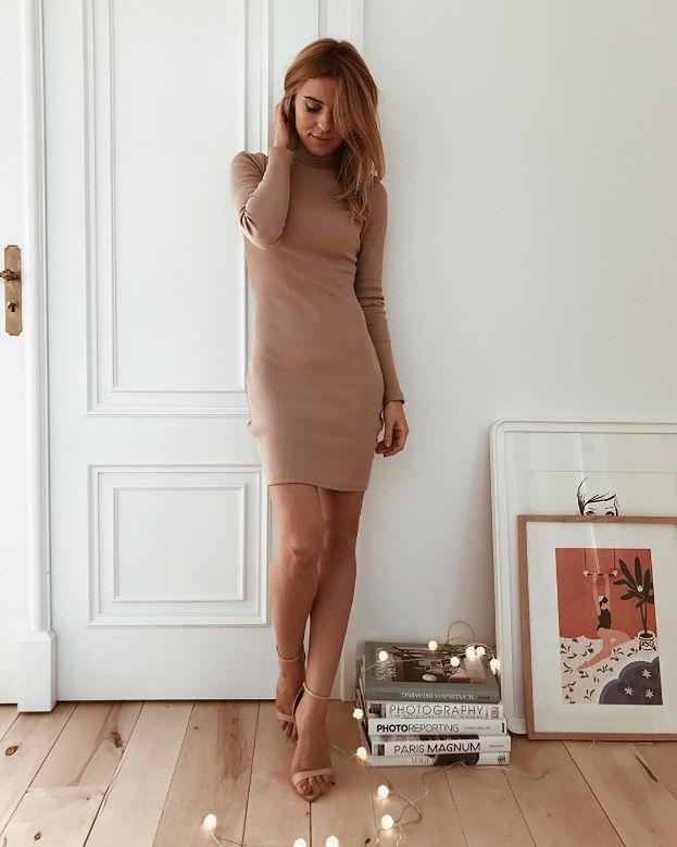 9cc4fa2f10 Sukienka dzianinowa w stylizacjach gwiazd - 5 inspiracji - PUDELEK