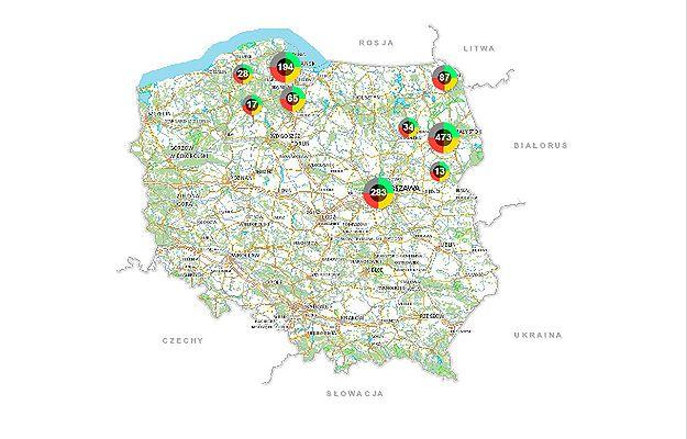 Mapa Zagrozen Od Wrzesnia W Calej Polsce Wiceszef Mswia Jaroslaw