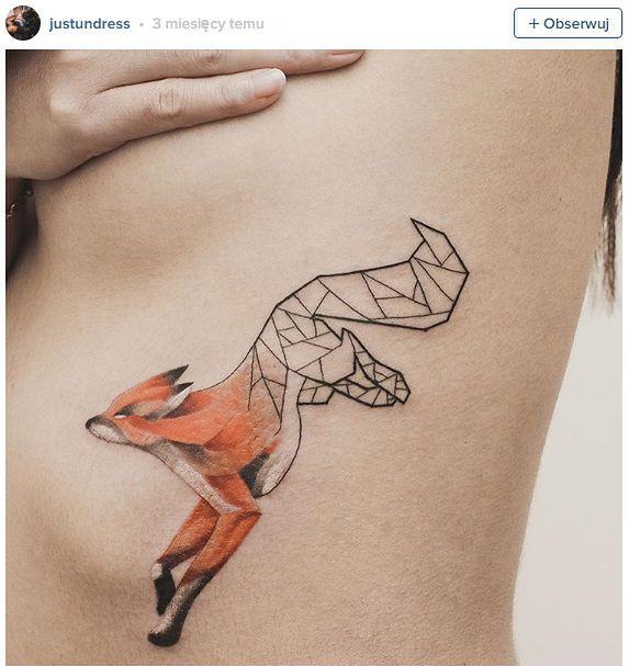 Tatuaże łączące Geometrię Z Naturą 1 O2 Serce Internetu