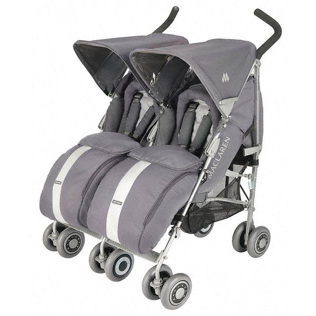 Wózek Maclaren Twin Techno szary