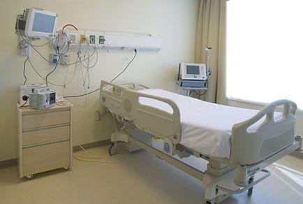 Jedna z sal dla pacjentów w Samodzielnym Publicznym Szpitalu Klinicznym nr 4 w Lublinie
