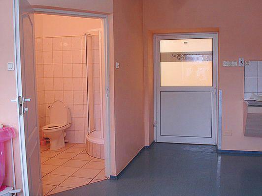Sala porodowa morelowa w Szpitalu na Solcu