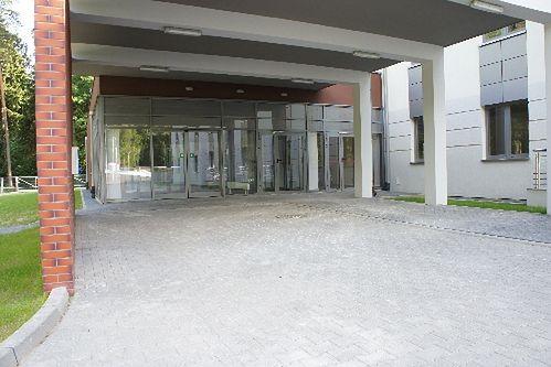Wejście do Niepublicznego Zakładu Opieki Zdrowotnej Malarkiewicz