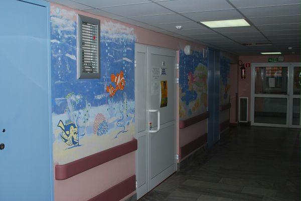 Kolorowe ściany w Szpitalu Specjalistycznym im. A. Falkiewicza we Wrocławiu