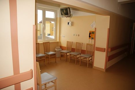 Poczekalnia Oddziału Ginekologiczno-Położniczego w Szpitalu Miejskim im. Jana Pawła II w Rzeszowie