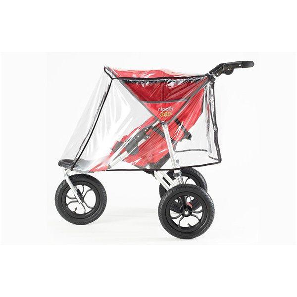 Wózek Out'n'About Nipper 360 Double Red z folią przeciwdeszczową