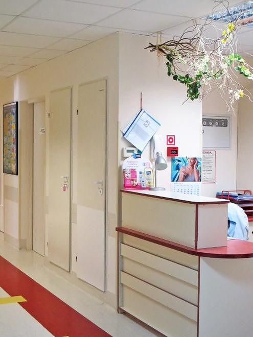 Recepcja Oddziału Położniczego Szpitala Bielańskiego