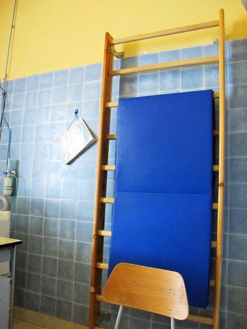 Drabinka w sali porodowej Szpitala Międzyleskiego w Warszawie