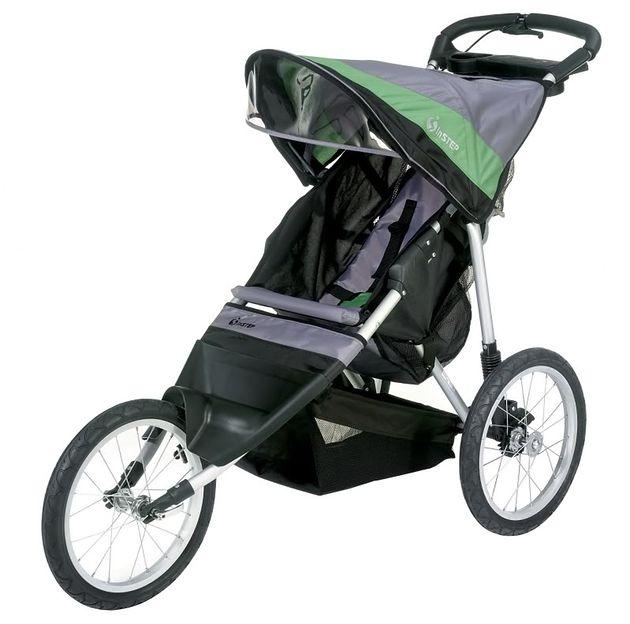 Wózek InStep Jogger Ultra Runner szaro-zielony