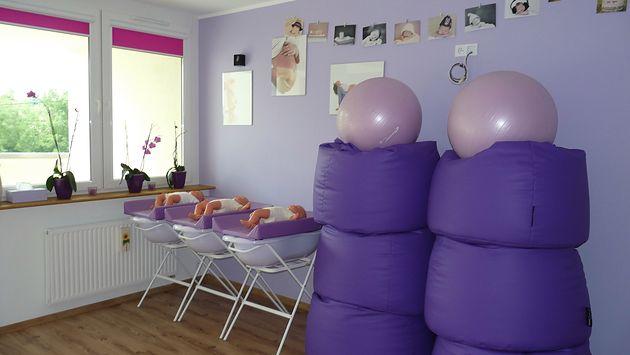 Sala zajęciowa w szkole rodzenia Dzieciolandia