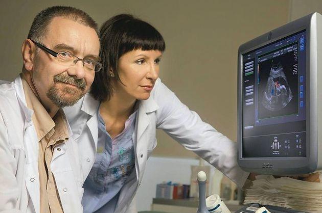 Prof. CMKP dr hab. med. Romuald Dębski z żoną - Szpital Bielański w Warszawie