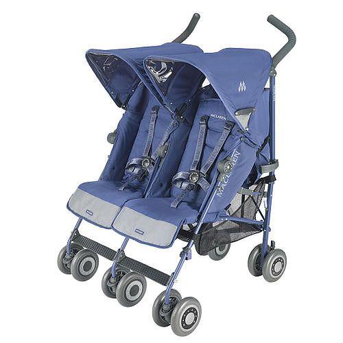 Wózek MACLAREN Twin Techno Crown Blue bez pokrowca