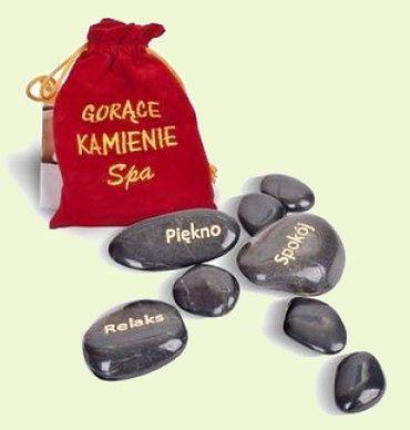 Kamienie bazaltowe do masażu G-M (12 sztuk)
