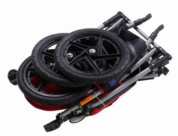 złożony Wózek InStep Jogger Run Around Niebiesko-Czerwony