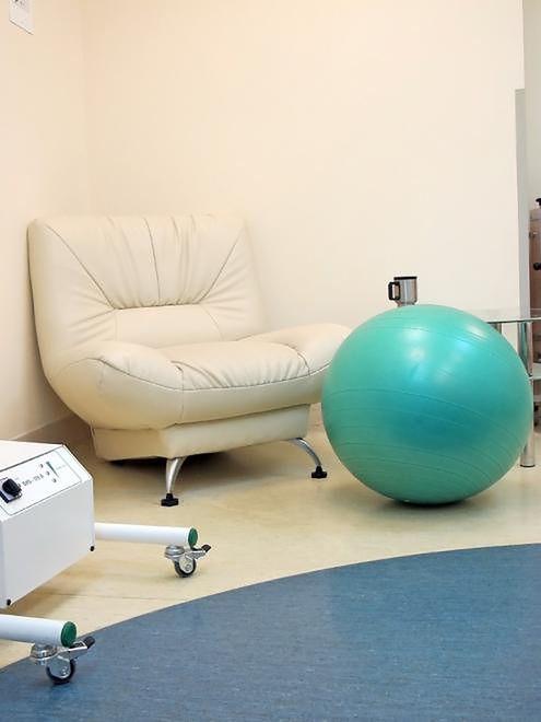 Piłka do porodu w Szpitalu Bielańskim w Warszawie