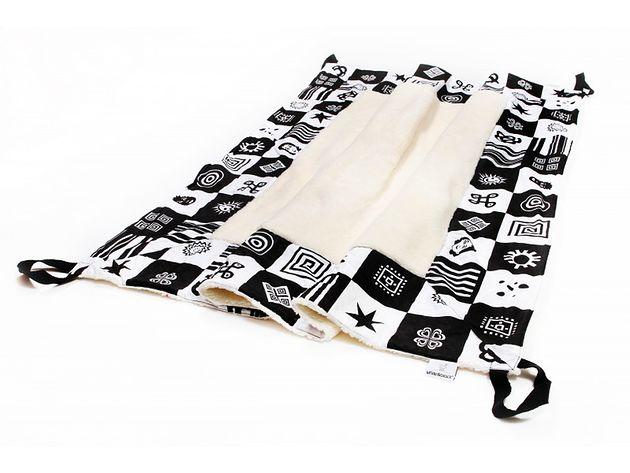 Koc z uchwytami White&Black biało-czarny