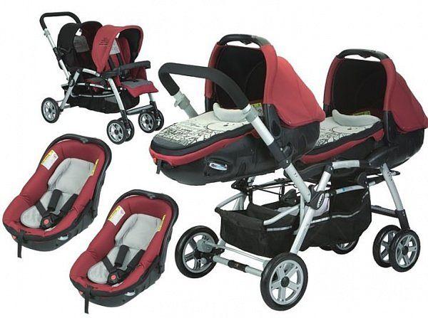 Wózek dziecięcy Jane Twin Two Molten Red