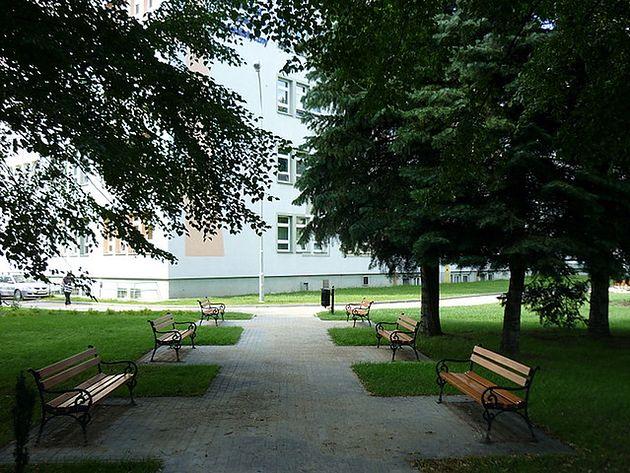 Park przed Wojewódzkim Szpitalem Specjalistycznym im. Fryderyka Chopina w Rzeszowie