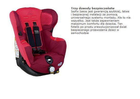 Fotelik samochodowy Bebe Confort Iseos Isofix