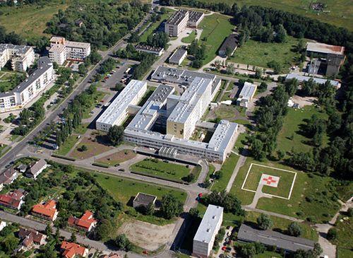 Wojewódzki Szpital Specjalistyczny we Wrocławiu widziany z lotu ptaka