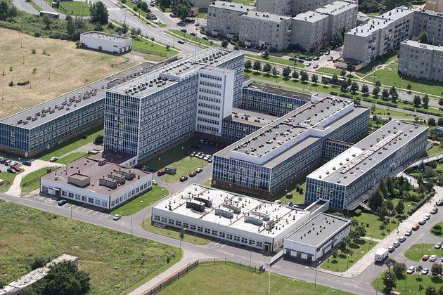 Wojewódzki Szpital Specjalistyczny we Wrocławiu - widok z góry