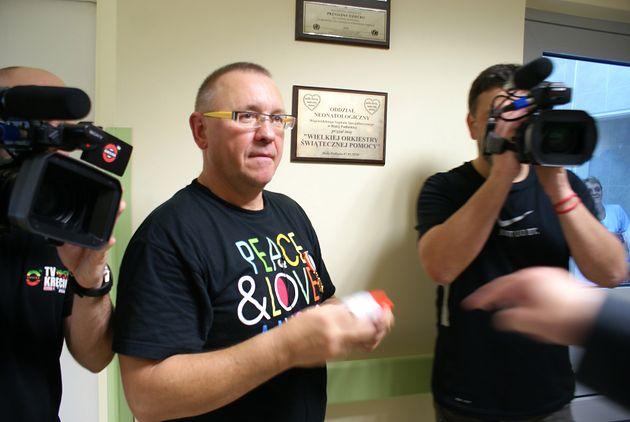 Jurek Owsiak na Oddziale Neonatologicznym