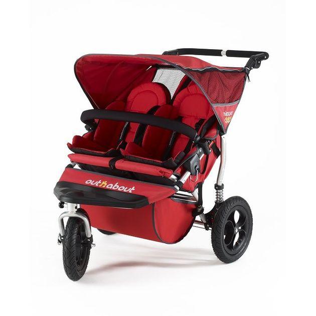 Wózek bliźniaczy Out'n'About Nipper 360 Double Red