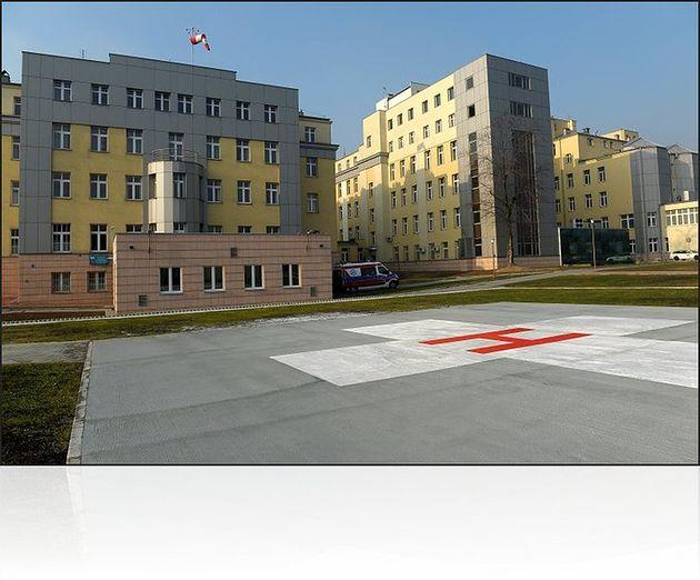 Szpital Miejski Specjalistyczny im. Gabriela Narutowicza w Krakowie z lotniskiem do lądowania śmigłowców ratunkowych