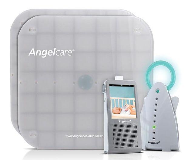 Monitor Oddechu z Nianią Elektroniczną i Kamerą Video Angelcare AC1100 cały zestaw
