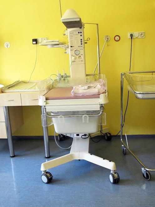 Kącik dla noworodka w Szpitalu na Solcu w Warszawie