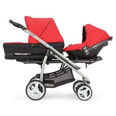 Wózek BEBECAR Vector Duo czerwony
