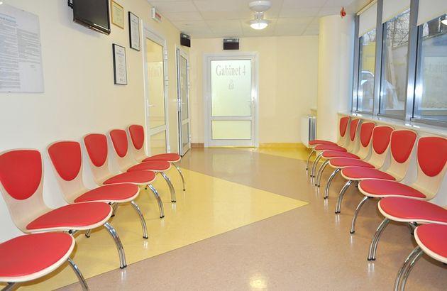 Poczekalnia dla pacjentów w Szpitalu św. Zofii w Warszawie
