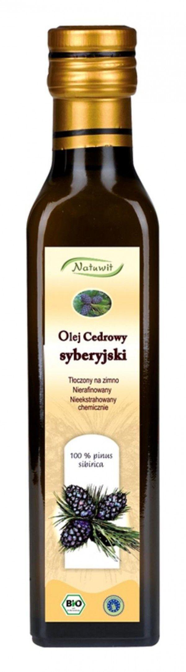 Syberyjski olej cedrowy Natuwit (250 ml)