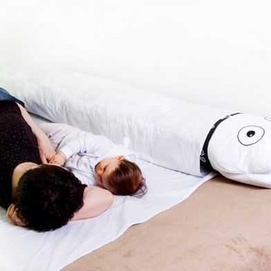 """Poduszka dla dzieci bezpieczny sen """"Roller"""" White&Black"""